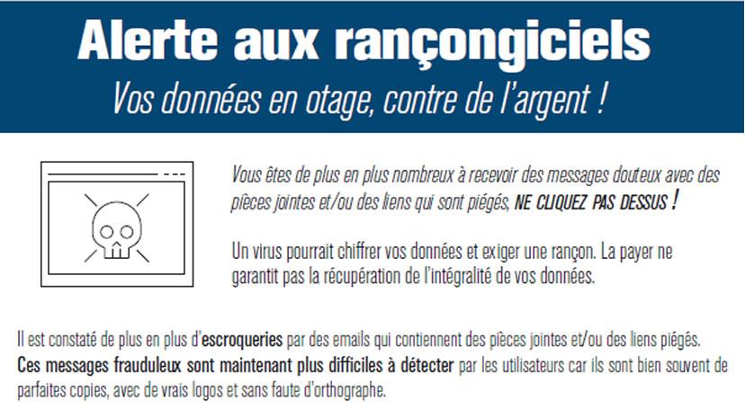 Alerte aux rançongiciels